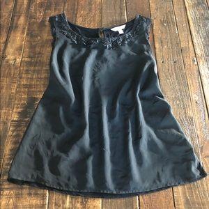 🌷LC Black Sleeveless Dress Top Sz L